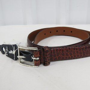 Polo Ralph Lauren Mens Crocodile Italian Leather
